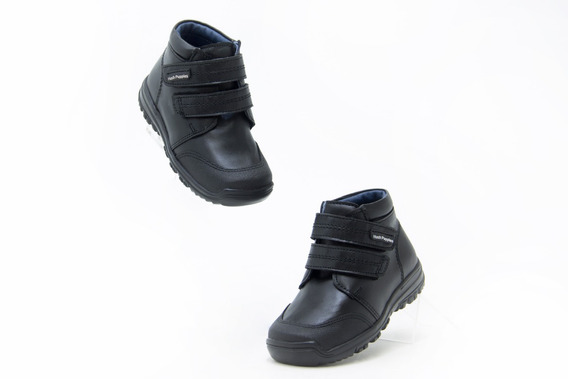 Zapatos Escolar Comodo Bonito Niño Hush Puppies 00763 Negro