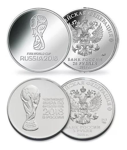 2 Moedas Rússia Copa Do Mundo Fifa 2018 25 Rublos Fc 1º E 2º
