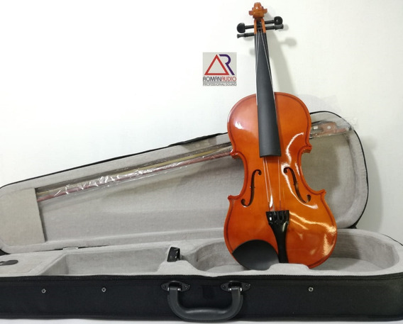Violin 4/4 Color Natural Con Estuche, Arco Y Pez