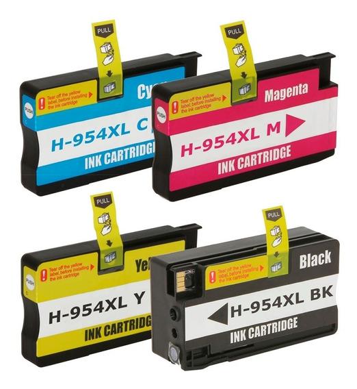 Kit 4 Cartuchos Compatíveis 954xl Pro 8710 8730 8210 7740