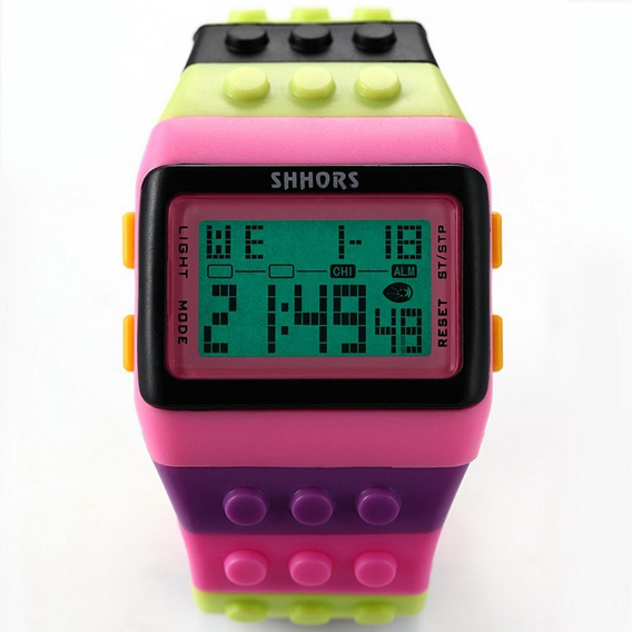 Led Watch Coloful Listra Unisex Relógios Desportivos Shhors