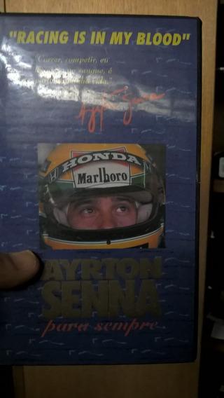 Coleção Ayrton Senna Videos, Revistas, Jornais, Cartões Etc
