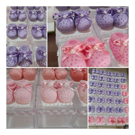 10 Sapatinhos De Bebê Em Biscuit Lembrancinhas Maternidade