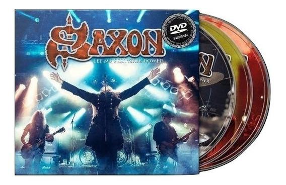 Saxon Let Me Feel Your Power 2 Cd + Dvd Nuevo Original
