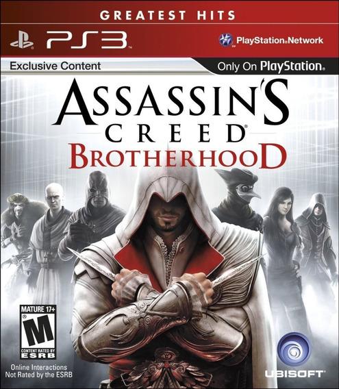 Assassins Creed Brotherhood Ps3 Jogo Bluray Físico Impecave