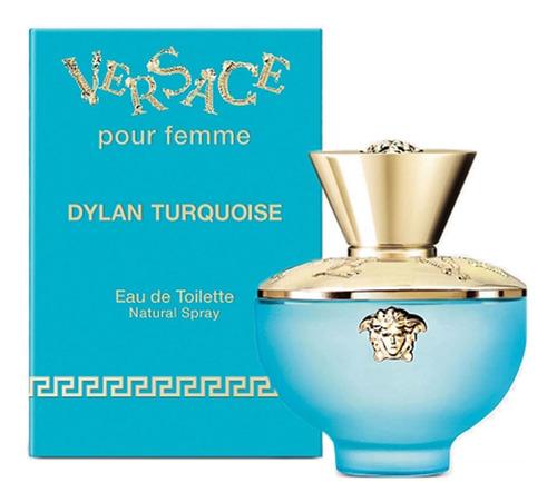 Imagen 1 de 6 de Perfume Versace Pour Femme Dylan Turquoise 100 Ml