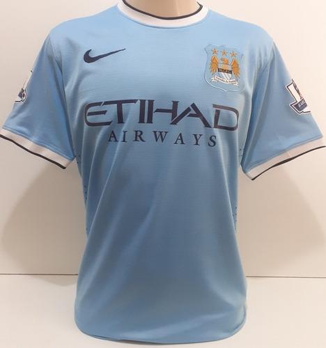 Camisa Manchester City 2014 Kun Aguero Original De Jogo  Mca