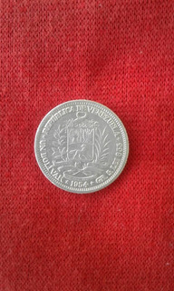 Un Bolivar Moneda De Plata De Venezuela 1954