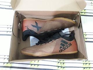 Chuteira Futsal adidas X 17 3 In - Dourado