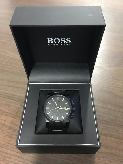 Relógio Hugo Boss Preto Com Dourado