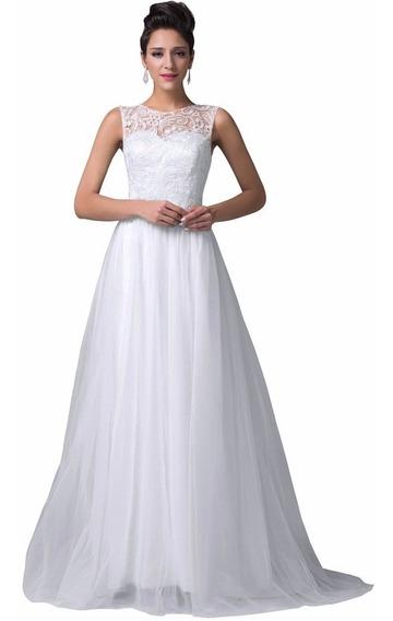 Vestido Noiva Renda Luxo Princesa Importado Pronta Entrega