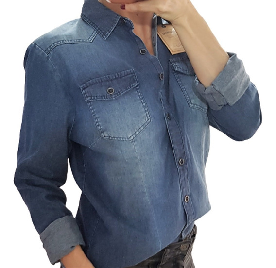 Camisa De Jeans Mujer