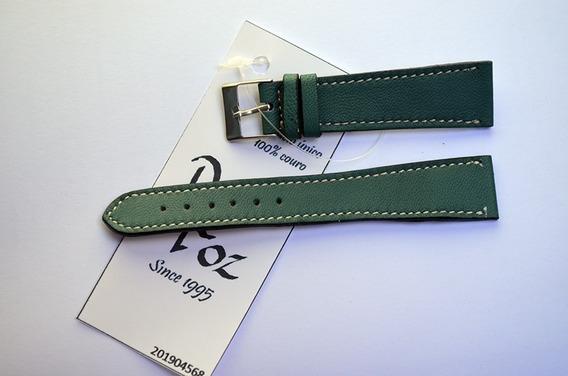 Pulseira Rfóz Couro Bem Macio Verde Royal 20mm 201904568