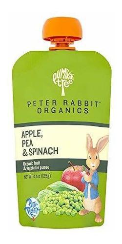 Imagen 1 de 9 de Peter Rabbit Organics, Guisantes, Espinacas Y Puré De Manzan