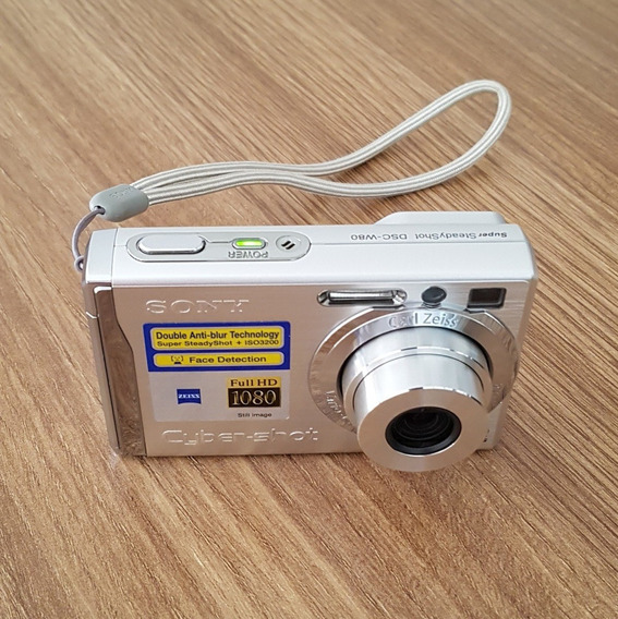 Câmera Digital Sony Cyber-shot Dsc-w80 Prata 7.2mp