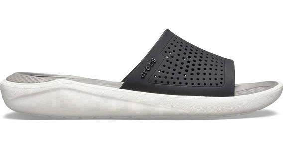 Crocs Literide Slide Negro/gris