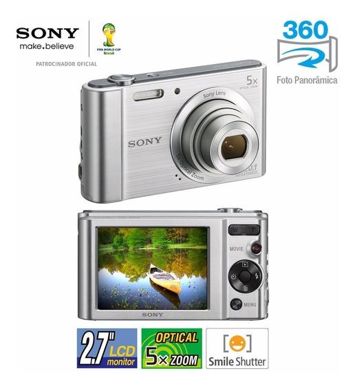 Câmera Sony Cyber-shot W800 Prata 20.1mp - Caixa Lacrada