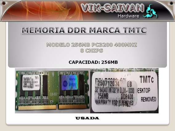 Memoria Ddr Tmtc 256mb Pc-3200 400mhz 8 Chips 7