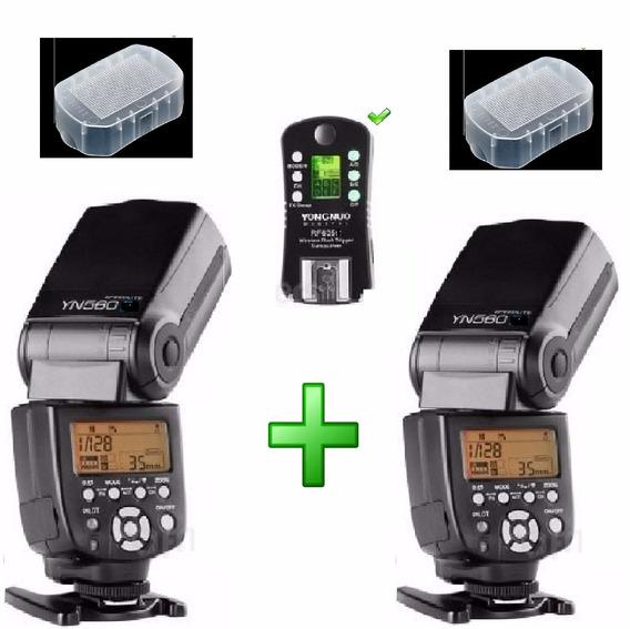 Flash Yongnuo 2 Peças Yn 560iii + Rf 605 Sony Canon Nikon
