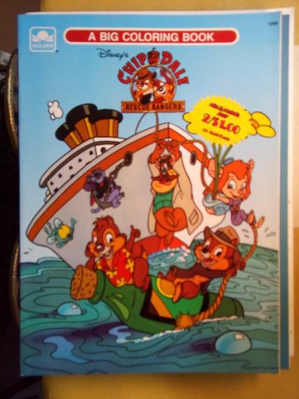 Raro Antigo Livro Para Colorir Tico E Teco Disney 1989