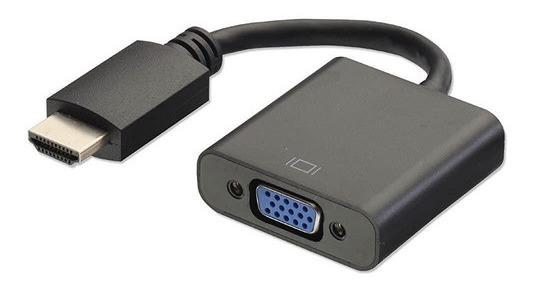 Cabo Adaptador Hdmi M X Vga F Adp-002bk Plus Cable