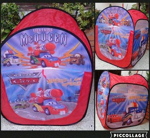 Carpa Casita Niño Mickey, Spiderman, Cars Con Bolso