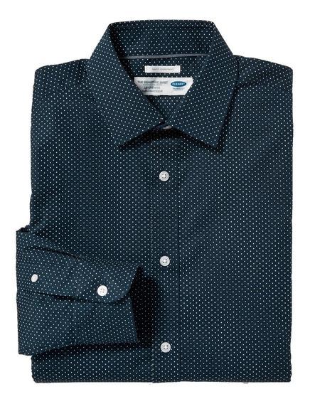 Camisa Hombre Casual Manga Larga Sin Planchar Old Navy