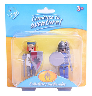 Muñecos Figuras X 2 Tipo Playmobil El Duende Azul
