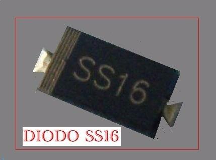 Diodo Ss16 ( Embalagem Com 10 Peças )