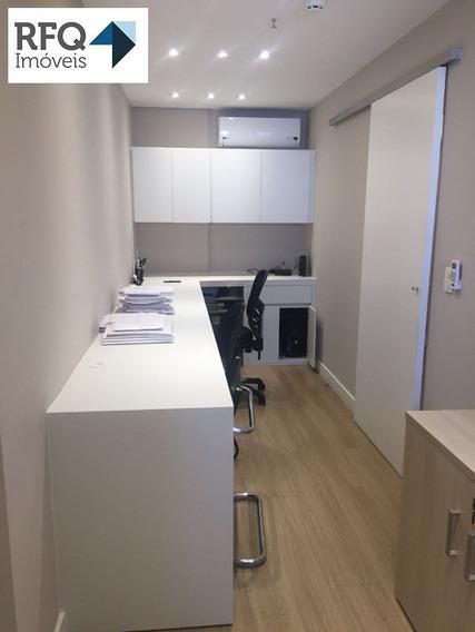 Excelente Conjunto Comercial, Com 46 M² De Área Útil, Com 2 Banheiros, Copa, Recepção, Sala De Trabalho E Sala De Reunião. - Sa00049 - 32673473