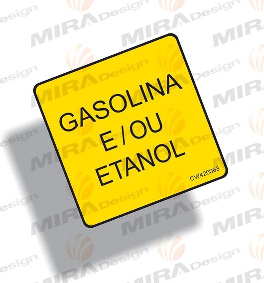 Adesivo Gasolina E / Ou Etanol Da Tampa Veículos Mitsubishi