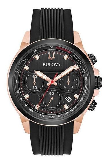 Bulova Relógio Masculino De Aço Inoxidável/silicone/goldrose