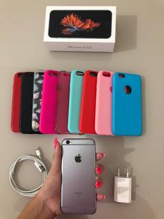 Celular iPhone 6s 32g Cinza Espacial Usado + Capinhas