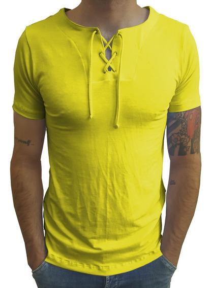 Camisas Estilo Bata Basica Viscose Com Elastano Manga Curta