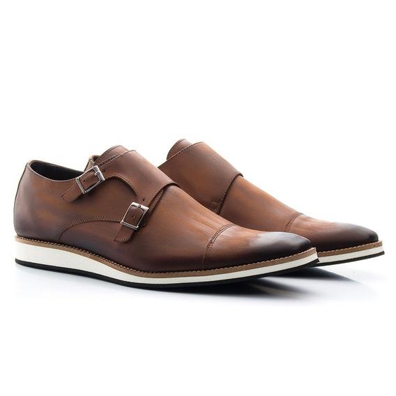 Sapato Social Masculino Couro Legítimo Leve Conforto E521