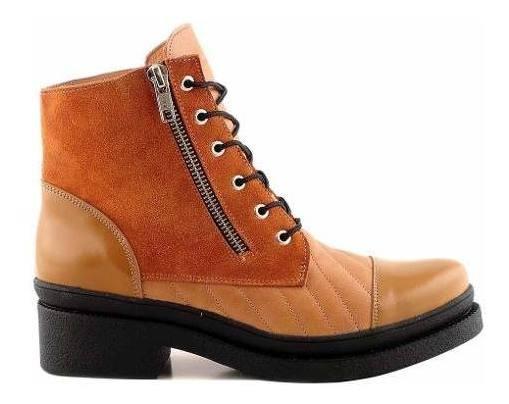 Borcego Mujer Bota Cuero Briganti Zapato Botita - Mcbo24613