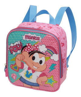 Kit Lancheira + Estojo Duplo Monica Super Rosa Pacific
