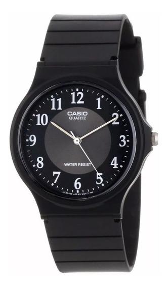 Reloj Casio Mq24-1b3 Negro Rueda Gris Original-envio Gratis