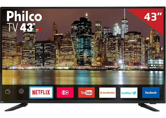 Smart Tv Led 43 Ptv43e60sn Philco, Full Hd Hdmi Usb Com Wi-fi Integrado