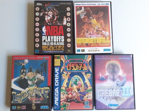 5 Jogos Mega Drive Japones Completos Frete Gratis 12x S/j