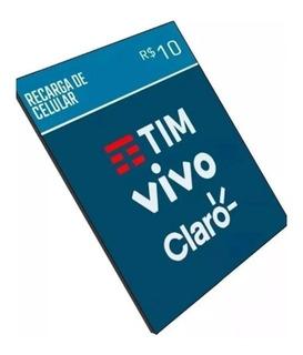 Recarga De Celular Online Tim Claro Vivo Oi R$10