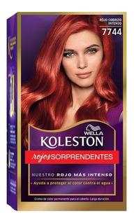 Tintura Wella Koleston Kit Rojo Cobrizo Intenso 7744