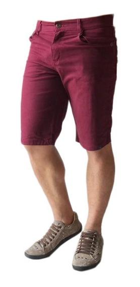 Bermuda Masculina Jeans Sarja Colorida Esolha