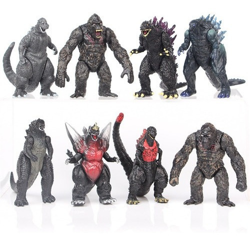 Imagen 1 de 6 de Juego De 8 Muñecas De Juguete Modelo Godzilla Vs King Kong