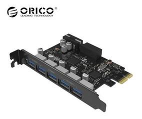 Placa Pci Express Pci-e Usb 3.0 Até 5gbps 5 Portas Orico