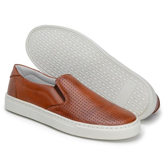 Sapato Alpargatas Masculino Sapatenis Em Couro Original