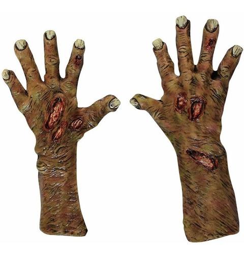 Imagen 1 de 1 de Manos De Látex Zombie Undead Large Gloves Guantes De Zombie