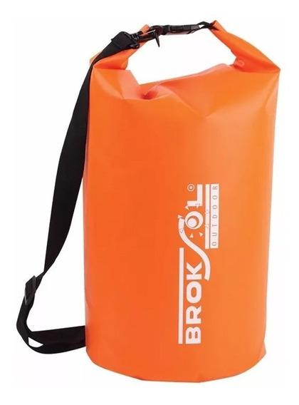 Bolso Estanco 10 Litros Impermeable Reforzado Broksol