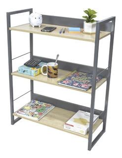 Librero Minimalista Moderno Tipo Madera Estante
