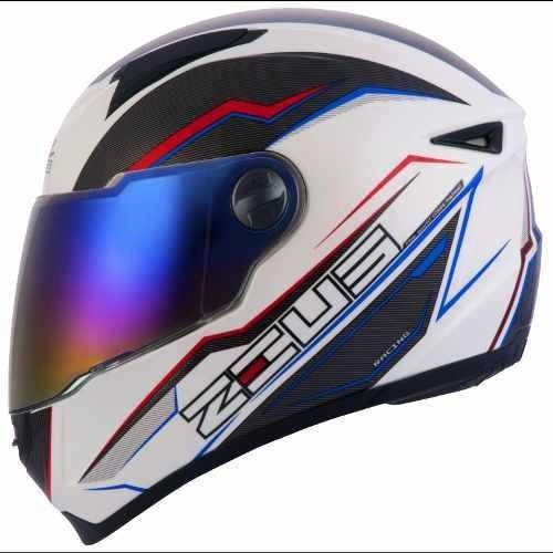 Capacete Zeus 811 Speed White Al12 Blue, 56,60 E 62